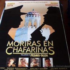 Cine: MORIRAS EN CHAFARINAS - JORGE SANZ, MARÍA BARRANCO, OSCAR LADOIRE, JAVIER ALBALÁ - DIR.PEDRO OLEA. Lote 26743483