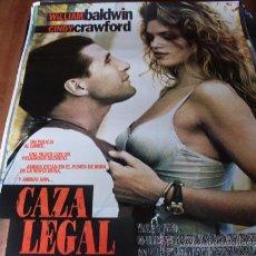 Cine: CAZA LEGAL - CINDY CRAWFORD, WILLIAM BALDWIN, SALMA HAYEK, DAN HEDAYA. Lote 25769170