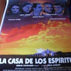 Cine: LA CASA DE LOS ESPIRITUS - JEREMY IRONS, WINONA RYDER, GLENN CLOSE, MERYL STREEP, ANTONIO BANDERAS. Lote 25268141