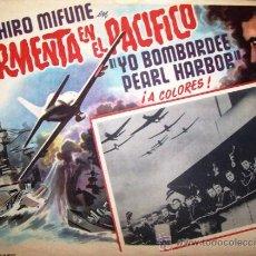 Cine: TORMENTA EN EL PACIFICO - PEARL HARBOUR - GUERRA - TOSHIRO MIFUNE - LOBBY CARD ORIGINAL MEXICANO. Lote 19292649