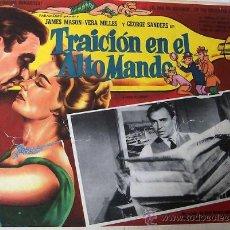 Cine: TRAICION EN EL ALTO MANDO - JAMES MASON - VERA MILES - GEORGE SANDERS - LOBBY CARD ORIGINAL MEXICANO. Lote 19293499