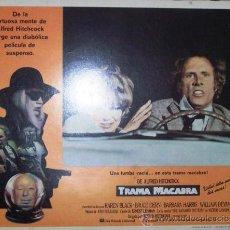 Cine: ALFRED HITCHCOCK - TRAMA MACABRA - KAREN BLACK - BRUCE DERN - LOBBY CARD ORIGINAL MEXICANO. Lote 19293561