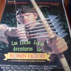 Cine: LAS LOCAS LOCAS AVENTURAS DE ROBIN HOOD - CARY ELWES, TRACEY ULLMAN, PATRICK STEWART, DOM DELUISE. Lote 184599652