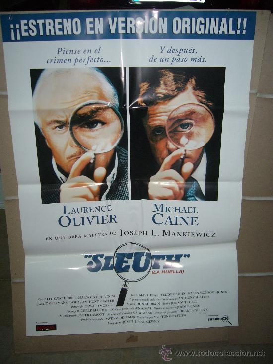 LA HUELLA MICHAEL CAINE LAURENCE OLIVIER POSTER ORIGINAL 70X100 (Cine - Posters y Carteles - Suspense)
