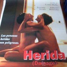 Cine: HERIDA DAMAGE - JEREMY IRONS, JULIETTE BINOCHE, MIRANDA RICHARDSON - DIR. LOUIS MALLE. Lote 23608527