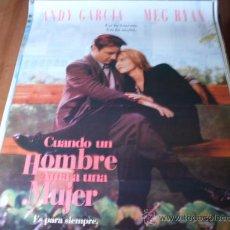Cine: CUANDO UN HOMBRE AMA A UNA MUJER - MEG RYAN, ANDY GARCÍA, ELLEN BURSTYN, LAUREN TOM, TINA MAJORINO. Lote 26910908