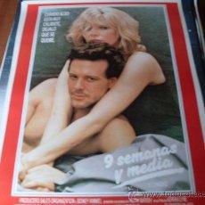 Cine: 9 SEMANAS Y MEDIA - KIM BASINGER, MICKEY ROURKE - DIR. ADRIAN LYNE. Lote 26935133