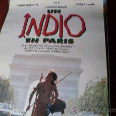 Cine: UN INDIO EN PARIS - THIERRY LHERMITTE, LUDWIG BRIAND, PATRICK TIMSIT, MIOU-MIOU. Lote 26801776