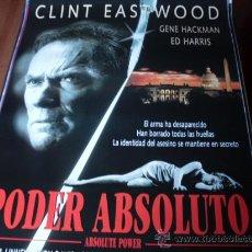 Cine: PODER ABSOLUTO - CLINT EASTWOOD, GENE HACKMAN, ED HARRIS, LAURA LINNEY, JUDY DAVIS. Lote 23854381