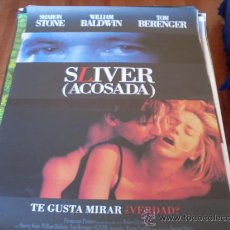 Cine: SLIVER ACOSADA - SHARON STONE, WILLIAM BALDWIN, TOM BERENGER, MARTIN LANDAU. Lote 26196919