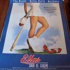 Cine: ELLAS DAN EL GOLPE - TOM HANKS, GEENA DAVIS, LORI PETTY, MADONNA, ROSIE O'DONNELL. Lote 189435380