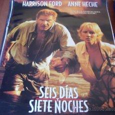 Cine: SEIS DIAS Y SIETE NOCHES - HARRISON FORD, ANNE HECHE, DAVID SCHWIMMER. Lote 27022426