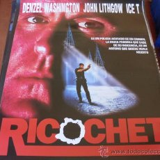 Cine: RICOCHET - DENZEL WASHINGTON, JOHN LITHGOW - DIR. RUSSELL MULCAHY. Lote 25808184