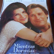 Cine: MIENTRAS DORMIAS - SANDRA BULLOCK, BILL PULLMAN, PETER GALLAGHER, PETER BOYLE. Lote 27045755