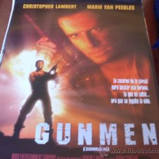 Cine: GUNMEN - CHRISTOPHER LAMBERT, MARIO VAN PEEBLES, DENIS LEARY, PATRICK STEWART. Lote 27085640