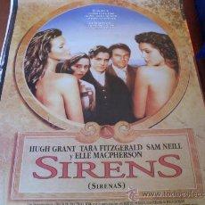 Cine: SIRENS (SIRENAS) - HUGH GRANT, SAM NEILL, TARA FITZGERALD, ELLE MACPHERSON, PORTIA DE ROSSI. Lote 26935145