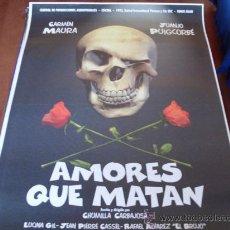 Cine: AMORES QUE MATAN - CARMEN MAURA, JUANJO PUIGCORBÉ, JEAN-PIERRE CASSEL. Lote 27085665