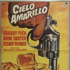 Cine: MH13 CIELO AMARILLO GREGORY PECK ANNE BAXTER RICHARD WIDMARK MAC POSTER ORIGINAL 70X100 ESPAÑOL R-65. Lote 19320299