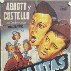 Cine: TI80D RECLUTAS BUD ABBOTT LOU COSTELLO BEUT POSTER ORIGINAL 70X100 ESTRENO LITOGRAFIA. Lote 19386255