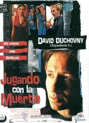 'JUGANDO CON LA MUERTE', CON DAVID DUCHOVNY. (Cine - Posters y Carteles - Suspense)