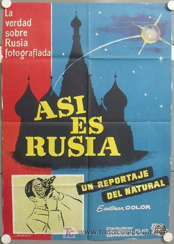 MH94 ASI ES RUSIA DOCUMENTAL POSTER ORIGINAL ESTRENO 70X100 (Cine - Posters y Carteles - Documentales)