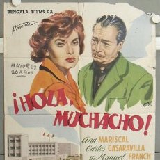 Cine: MH95 HOLA MUCHACHO ANA MARISCAL BALONGA CASSAR POSTER ORIGINAL 70X100 ESTRENO. Lote 19398336