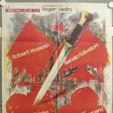 Cine: MI39 POKER DE SANGRE ROBERT HOSSEIN ANOUK AIMEE ROGER VADIM POSTER ORIGINAL 70X100 ESTRENO. Lote 19417285