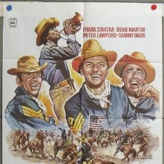 Cine: MJ59 3 SARGENTOS FRANK SINATRA DEAN MARTIN RAT PACK MAC POSTER ORIGINAL 70X100. Lote 19538131