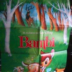Cine: BAMBI, DE WALT DISNEY, EN PAPEL SATINADO. Lote 19507335