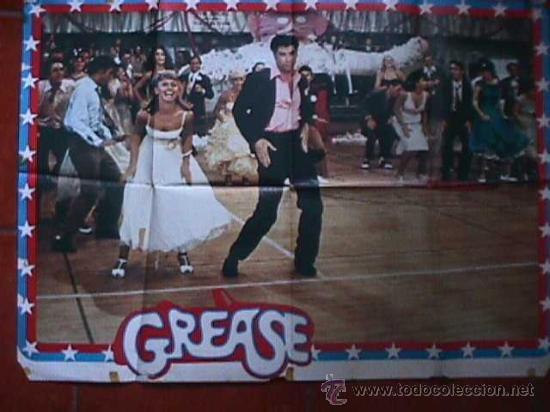 POSTER DE LA PELICULA GREASE, EN PAPEL, GRANDE (Cine - Posters y Carteles - Musicales)