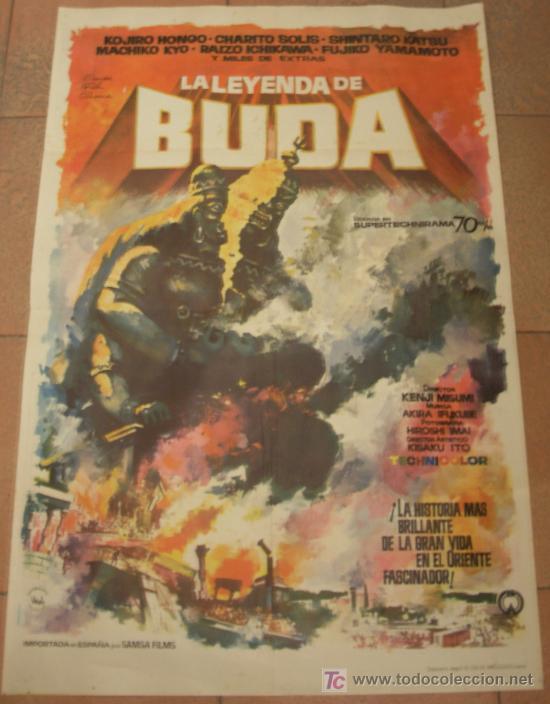 CARTEL ORIGINAL DE LA PELICULA LA LEYENDA DE BUDA. MEDIDAS 70X100 CM. AÑO 1963. (Cine - Posters y Carteles - Terror)