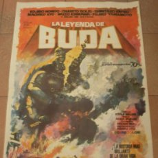 Cine: CARTEL ORIGINAL DE LA PELICULA LA LEYENDA DE BUDA. MEDIDAS 70X100 CM. AÑO 1963.. Lote 19526455