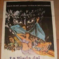 Cine: CARTEL ORIGINAL DE LA PELICULA LA VIUDA DEL DIABLO. MEDIDAS 70X100 CM. AÑO 1970.. Lote 19527243