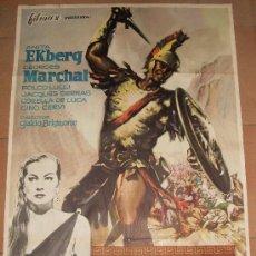 Cine: CARTEL ORIGINAL DE LA PELICULA BAJO EL SIGNO DE ROMA. MEDIDAS 70X100 CM. AÑO 1961.. Lote 26002038