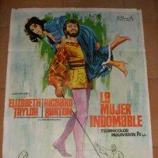 Cine: CARTEL ORIGINAL DE LA PELICULA LA MUJER INDOMABLE. MEDIDAS 70X100 CM. AÑO 1966.. Lote 26184751