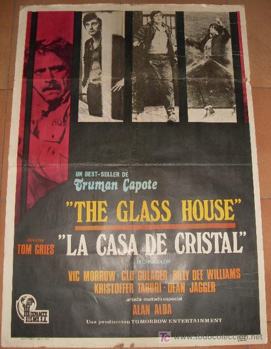 CARTEL ORIGINAL DE LA PELICULA LA CASA DE CRISTAL. MEDIDA 70X100 CM. AÑO1972. (Cine - Posters y Carteles - Suspense)