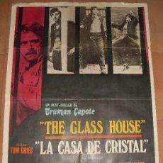 Cine: CARTEL ORIGINAL DE LA PELICULA LA CASA DE CRISTAL. MEDIDA 70X100 CM. AÑO1972.. Lote 26184752