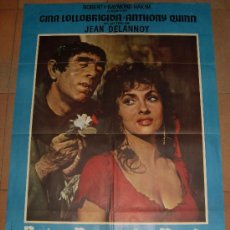 Cine: ARTEL ORIGINAL DE LA PELICULA NOTRE DAME DE PARIS. MEDIDAS 70X100 CM. AÑO 1970.. Lote 26184759