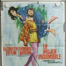 Cine: MK79 LA MUJER INDOMABLE ELIZABETH TAYLOR RICHARD BURTON JANO POSTER ORIGINAL 70X100 ESTRENO. Lote 19575366