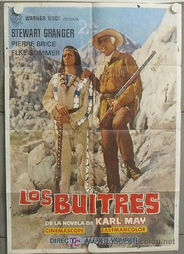 MK89 LOS BUITRES STEWART GRANGER PIERRE BRICE KARL MAY POSTER ORIGINAL 70X100 ESTRENO (Cine - Posters y Carteles - Westerns)