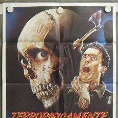 Cine: QQ01 TERRORIFICAMENTE MUERTOS EVIL DEAD 2 SAM RAIMI POSTER ORIGINAL 70X100 ESTRENO. Lote 29893336