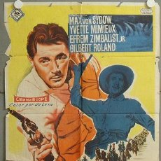 Cine: ML01 BANDIDO ROBERT MITCHUM POSTER ORIGINAL 70X100 ESTRENO LITOGRAFIA. Lote 19581260