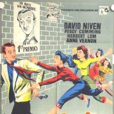 Cine: ML12 LA LOTERIA DEL AMOR DAVID NIVEN PEGGY CUMMINS JANO POSTER ORIGINAL 70X100 ESTRENO LITOGRAFIA. Lote 19591562