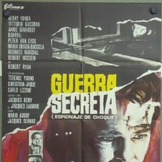 Cine: ML28 GUERRA SECRETA HENRY FONDA BOURVIL VITTORIO GASSMAN POSTER ORIGINAL 70X100 ESTRENO. Lote 19592869