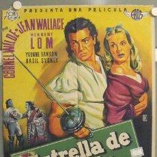 Cine: ZQ90D ESTRELLA DE LA INDIA CORNEL WILDE JEAN WALLACE POSTER ORIGINAL 70X100 ESTRENO LITOGRAFIA. Lote 19652809