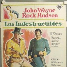 Cine: ML71 LOS INDESTRUCTIBLES JOHN WAYNE ROCK HUDSON POSTER ORIGINAL 70X100 ESTRENO. Lote 19652876