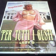 Cine: POSTER ORIGINAL ITALIANO PER TUTTI I GUSTI LADY D EROTIC DREAMS OF DANIELA DELLA TORRE LUCA DAMIANO. Lote 86292614
