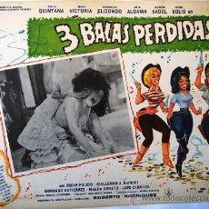 Cine: 3 BALAS PERDIDAS - ROSITA QUINTANA - EVANGELINA ELIZONDO - ORIGINAL LOBBY CARD MEXICANO. Lote 19650421