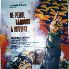 Cine: DE PEARL HARBOUR A MIDWAY. YASONE FILMS. TOSHIRO MIFUNE OSWALD GIS. YOUSKE NATSUCHI. CINE.. Lote 23548297
