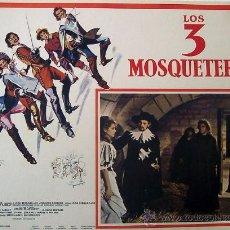Cine: LOS 3 MOSQUETEROS - MYLÈNE DEMONGEOT - GÉRARD BARRAY - LOBBY CARD ORIGINAL MEXICANO. Lote 19667913